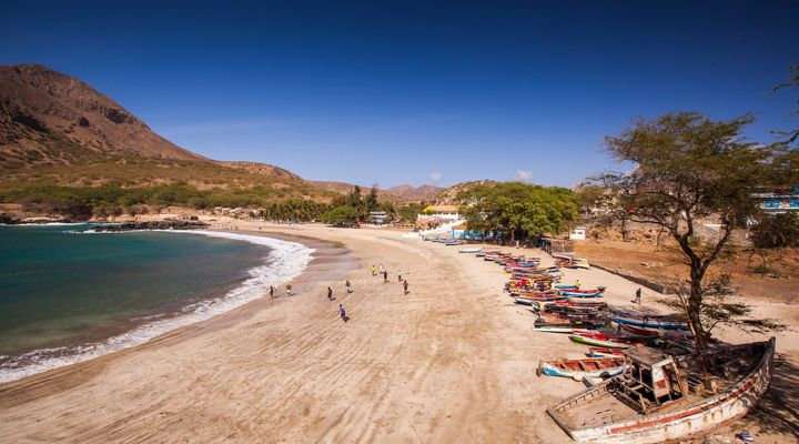 Het strand van Tarrafal